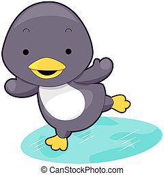 Cute Penguin with Clipping Path