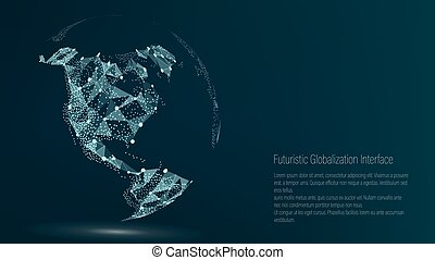 World Map Point. North America. Vector Illustration....