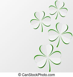 Illustration of clover leaves