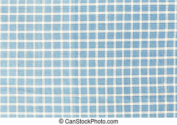 Blue checked fabric texture