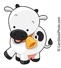 Cute Cow with Clipping Path