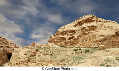 Mountains of Petra, Jordan, Middle East. Petra has been a...