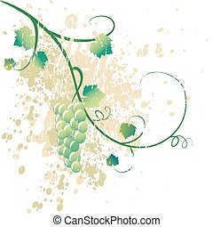 grungy illustration of a grapevine