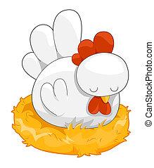 CÙte, galinha