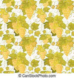Vector grapes background (seamless pattern)