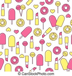 Patch seamless pattern with heart - Patch seamless pattern...