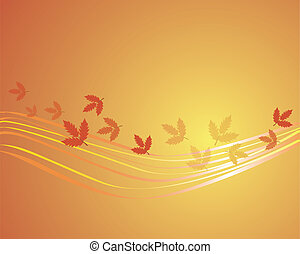 abstract image with autumn leaves