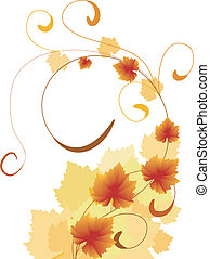 autumn leaves with swirls