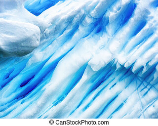 deep blue lines in an iceberg - Detail of an Antarctic...