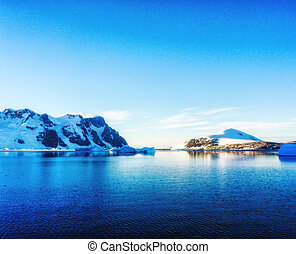 mountains against the blue sky in Antarctica - Beautiful...