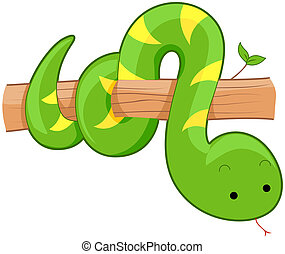 Cute Snake with Clipping Path