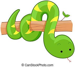 CÙte, wąż