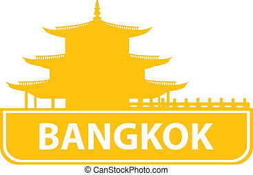 Bangkok skyline. Vector illustration for you design