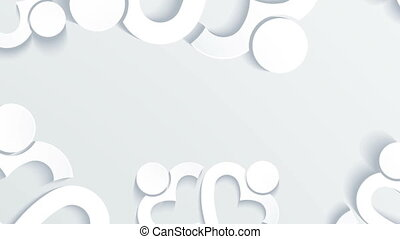 Group of People with Shape Heart in White Background Motion...