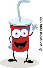 Funny Fast Food Drink - A funny fast food drink saying hello