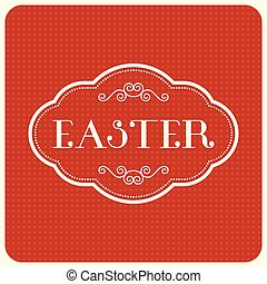 easter type font with vintage frame