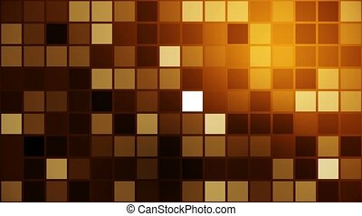 Flashing squares in brown,yellow colors