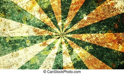 Abstract,grunge sunburst in green