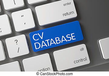 Keyboard with Blue Keypad - CV Database. 3D. - CV Database...
