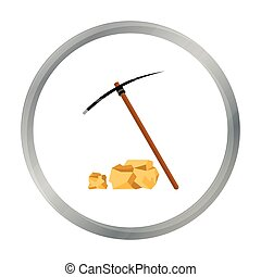 Pickaxe icon cartoon. Singe western icon from the wild west...