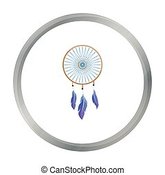 Dreamcatcher icon cartoon. Singe western icon from the wild west cartoon.