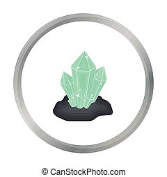Crystals icon in cartoon style isolated on white background....