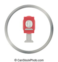 Payphone icon in cartoon style isolated on white background....