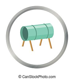 Playground tunnel icon in cartoon style isolated on white...