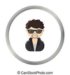 Rock star cartoon icon. Illustration for web and mobile design.