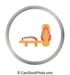 Geta icon in cartoon style isolated on white background....