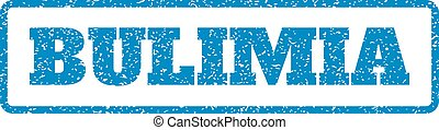 Bulimia Rubber Stamp - Blue rubber seal stamp with Bulimia...