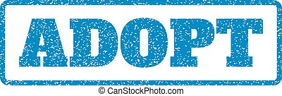 Adopt Rubber Stamp - Blue rubber seal stamp with Adopt text....