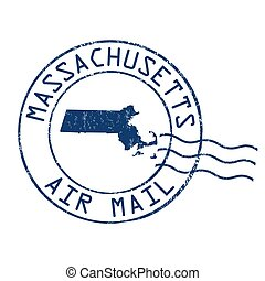 Massachusetts post office sign or stamp - Massachusetts post...