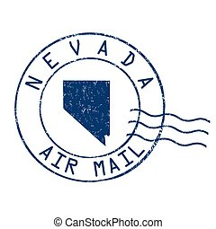 Nevada post office sign or stamp - Nevada post office, air...