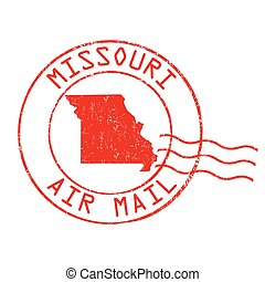 Missouri post office sign or stamp - Missouri post office,...