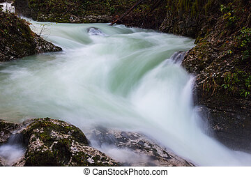 Beautiful Vintgar Gorge near Bled, Slovenia - Beautiful...