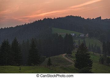 Mountain landscape. Carpathians.