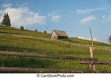 Carpathian village.