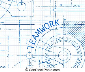 Teamwork Graph Paper Machine - Teamwork word on graph paper...