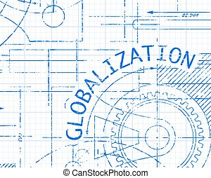 Globalization Graph Paper Machine - Globalization word on...