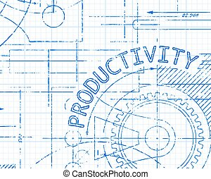 Productivity Graph Paper Machine - Productivity word on...