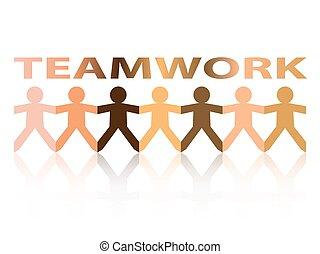Teamwork Paper People