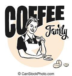Frau mit Kaffeetasse, Coffee Family