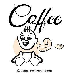 Strichmännchen Kaffeepause Coffee Typo