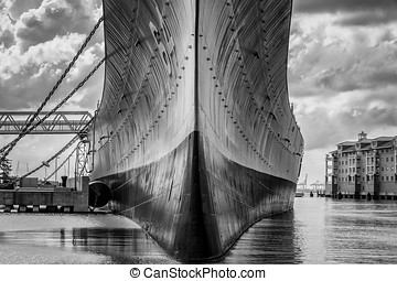 Wisky was the nickname of the USS Wisconsin (BB-64) shown...