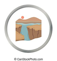 Grand Canyon icon in cartoon style isolated on white...