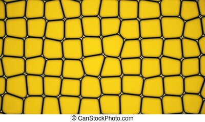 Yellow moving cells