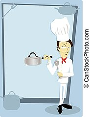 Funny Chef with Copyspace