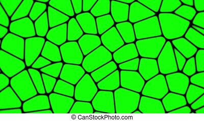 Green moving cells