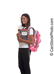 College student young African American woman - ducation...